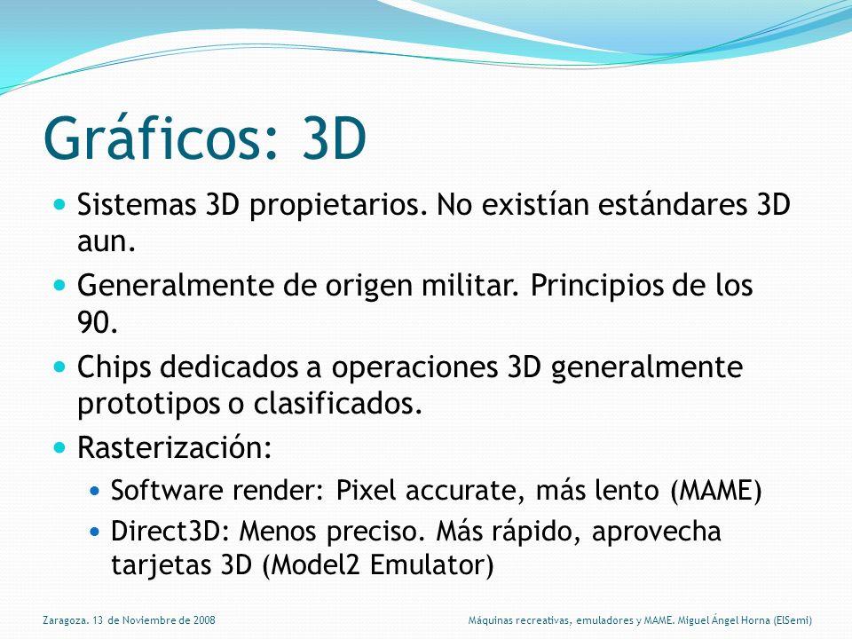 Gráficos: 3D Sistemas 3D propietarios.No existían estándares 3D aun.
