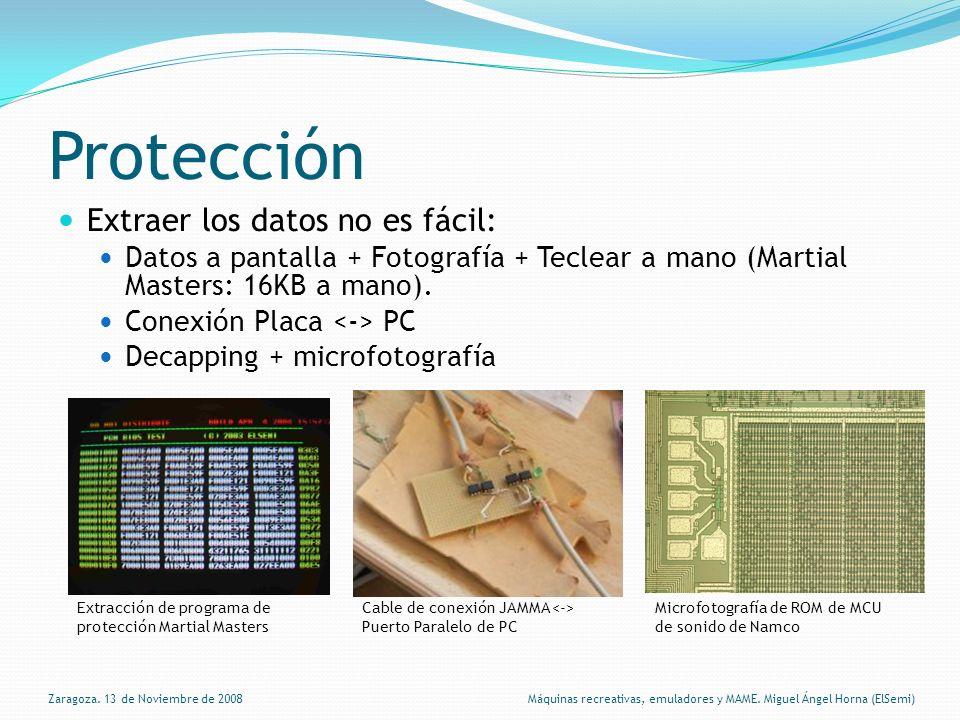 Protección Extraer los datos no es fácil: Datos a pantalla + Fotografía + Teclear a mano (Martial Masters: 16KB a mano).
