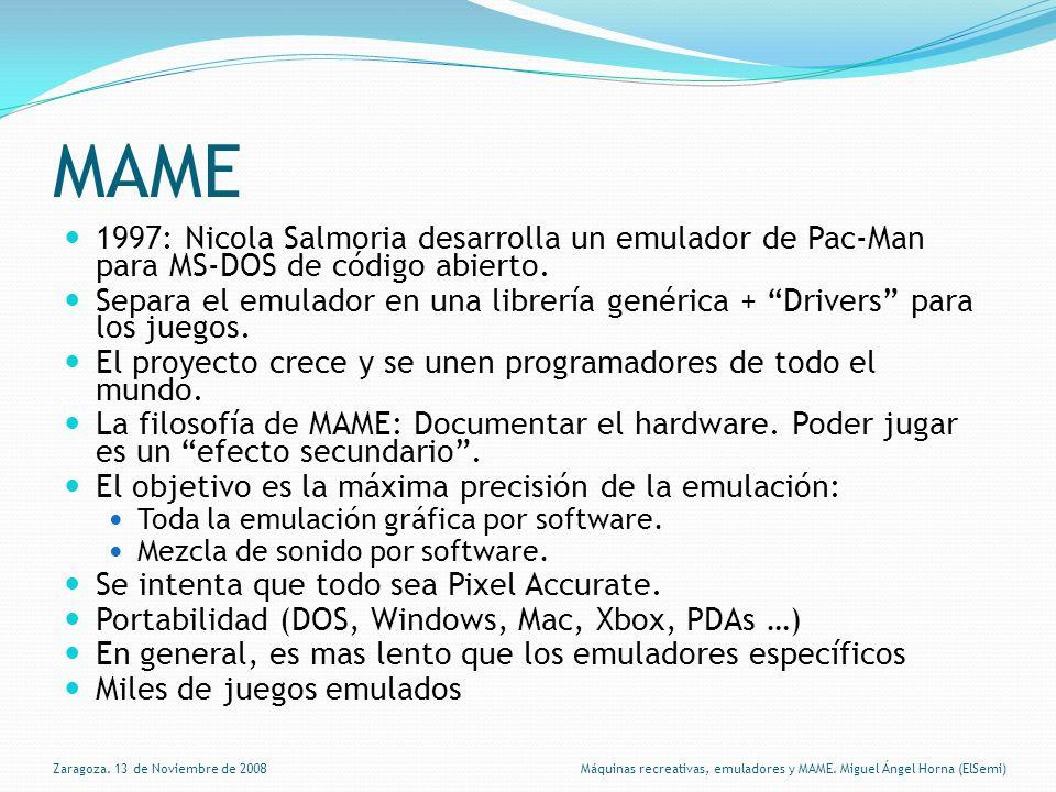 MAME 1997: Nicola Salmoria desarrolla un emulador de Pac-Man para MS-DOS de código abierto.