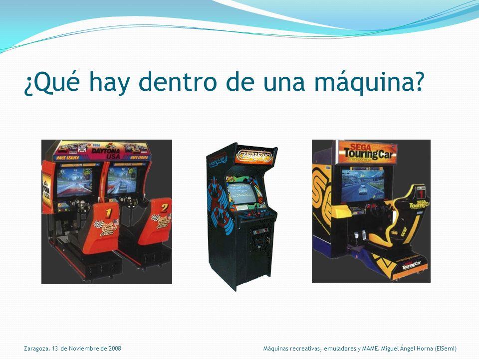 ¿Qué hay dentro de una máquina.Zaragoza.