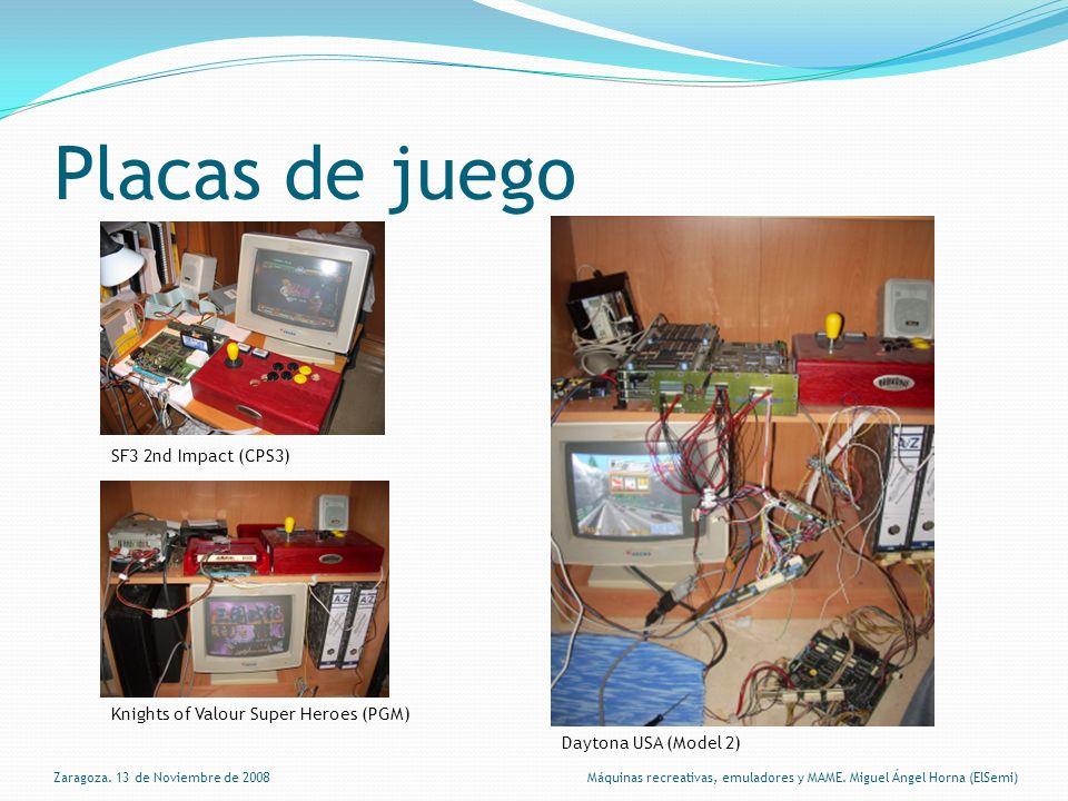 ROMs Almacenamiento del juego (programa, gráficos, sonido) en memorias ROM.