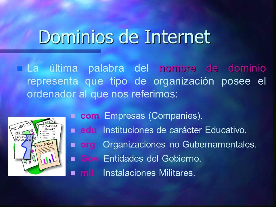 Cada computadora que hospeda información en la Internet tiene una dirección numérica única. Por ejemplo, la dirección numérica para la Casa Blanca es