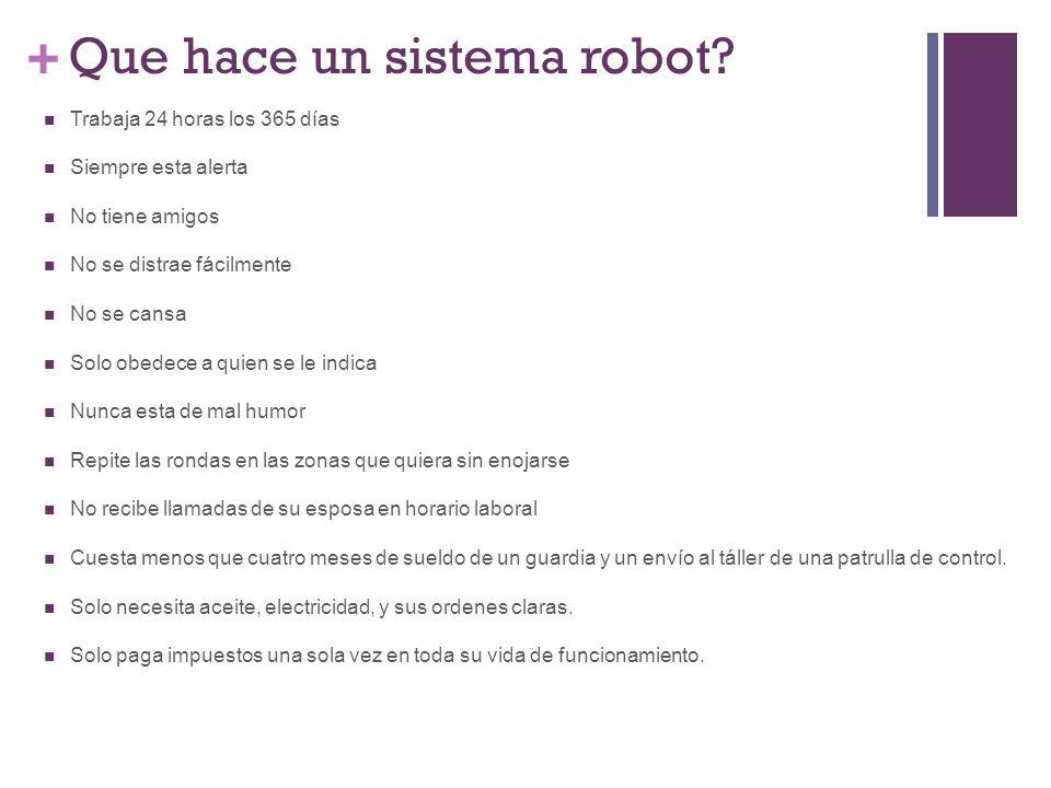 + Que hace un sistema robot.