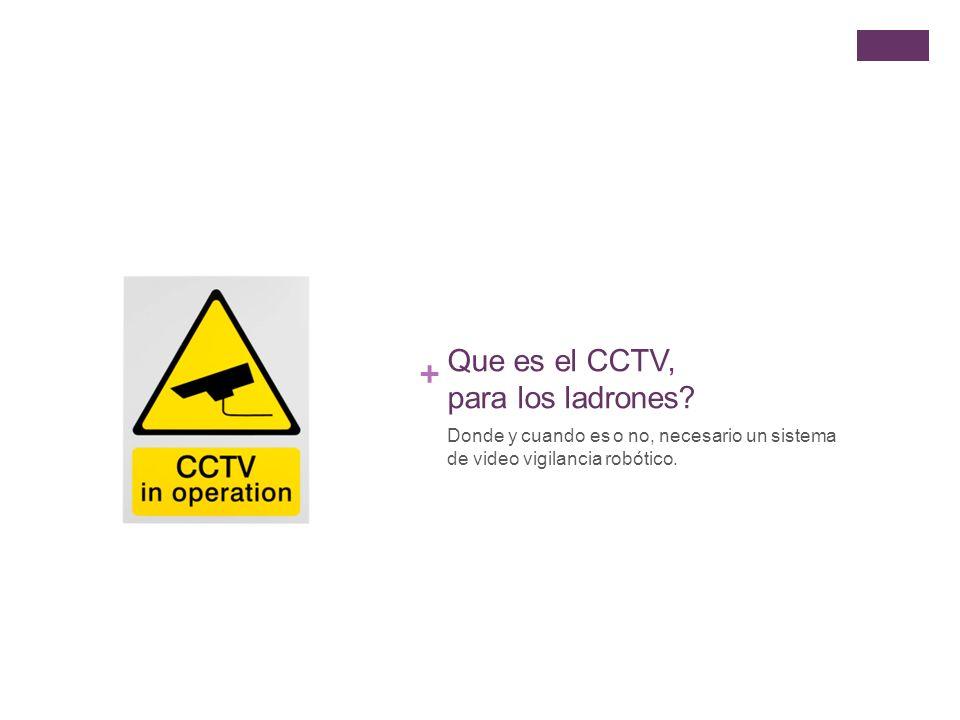 + Que es el CCTV, para los ladrones.