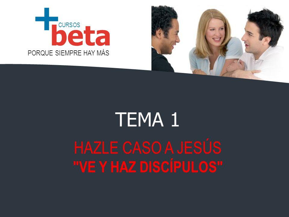 CURSOS PORQUE SIEMPRE HAY MÁS beta + TEMA 1 HAZLE CASO A JESÚS