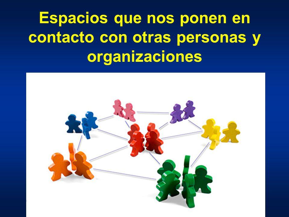 Espacios que nos ponen en contacto con otras personas y organizaciones