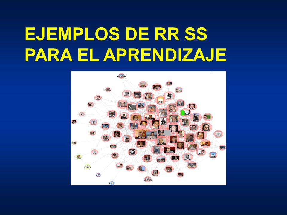 EJEMPLOS DE RR SS PARA EL APRENDIZAJE