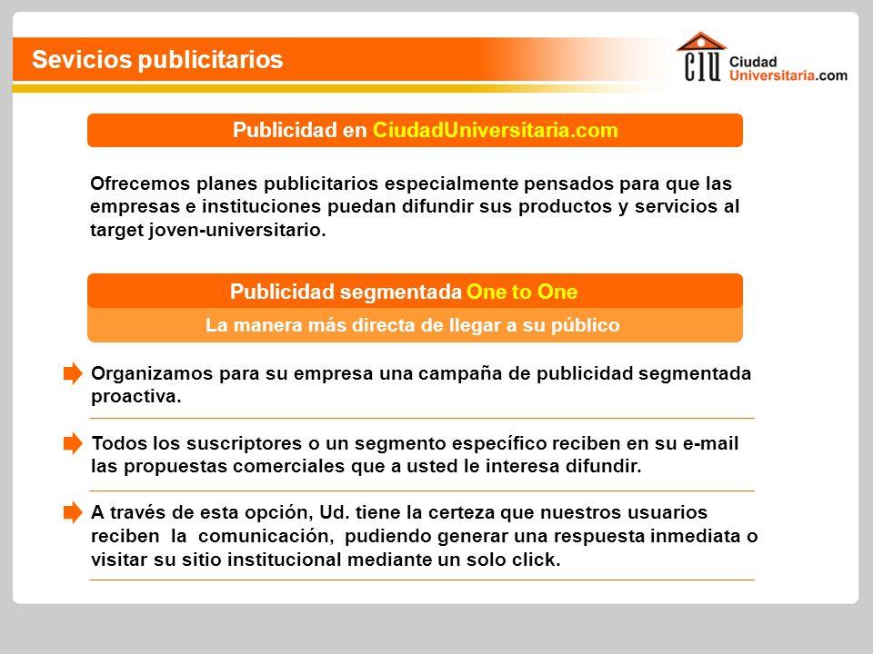 Ofrecemos planes publicitarios especialmente pensados para que las empresas e instituciones puedan difundir sus productos y servicios al target joven-universitario.