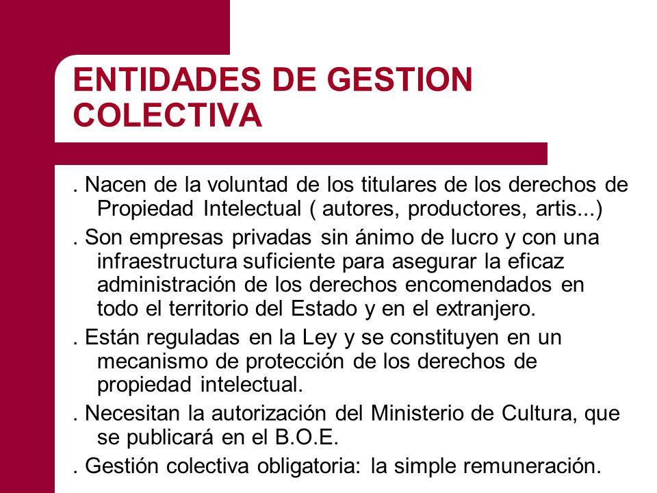 ENTIDADES DE GESTION COLECTIVA.