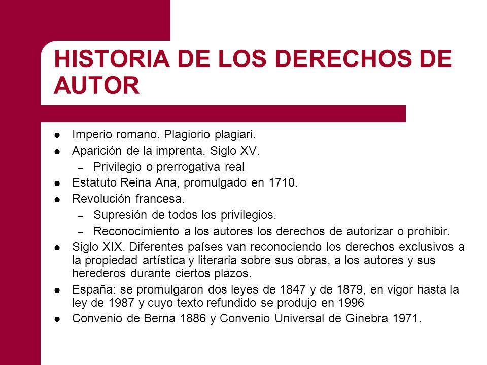 HISTORIA DE LOS DERECHOS DE AUTOR Imperio romano.Plagiorio plagiari.
