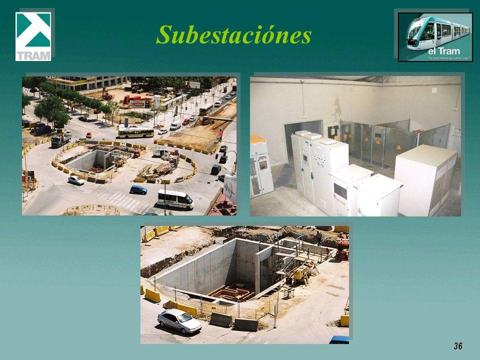 36 Subestaciónes