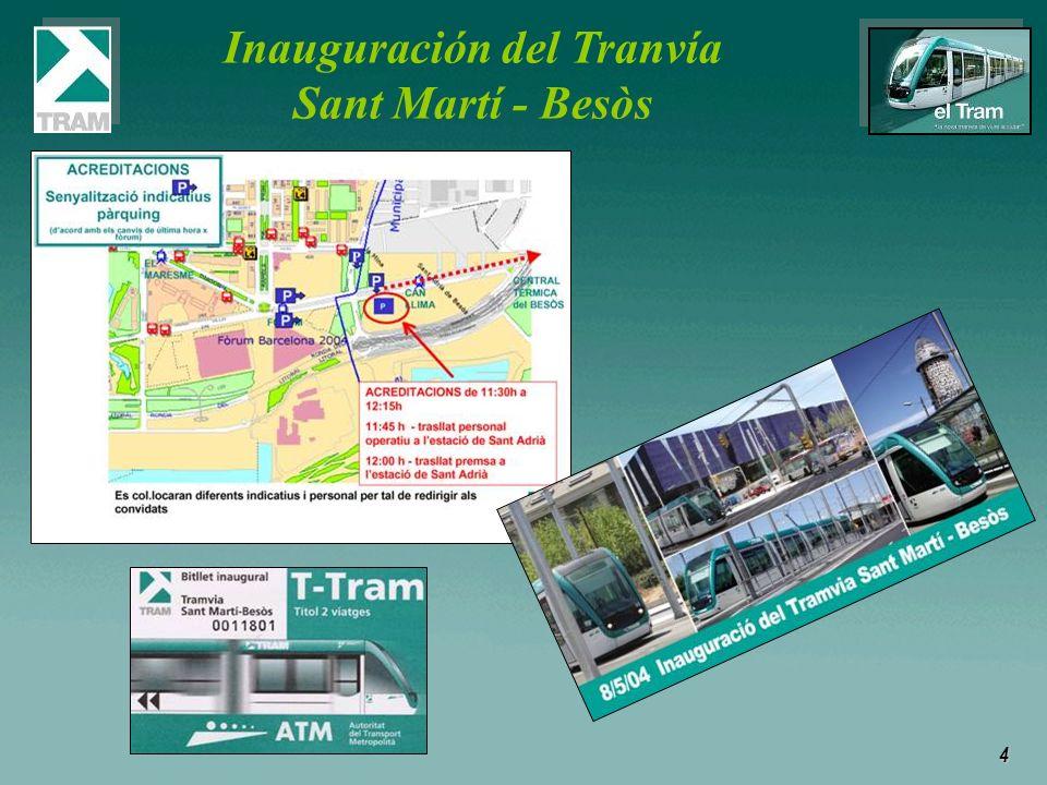 4 Inauguración del Tranvía Sant Martí - Besòs