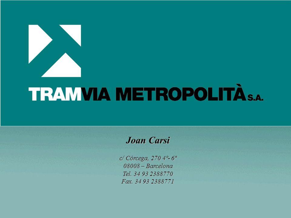 Joan Carsi c/ Córcega, 270 4º- 6ª 08008 – Barcelona Tel. 34 93 2388770 Fax. 34 93 2388771