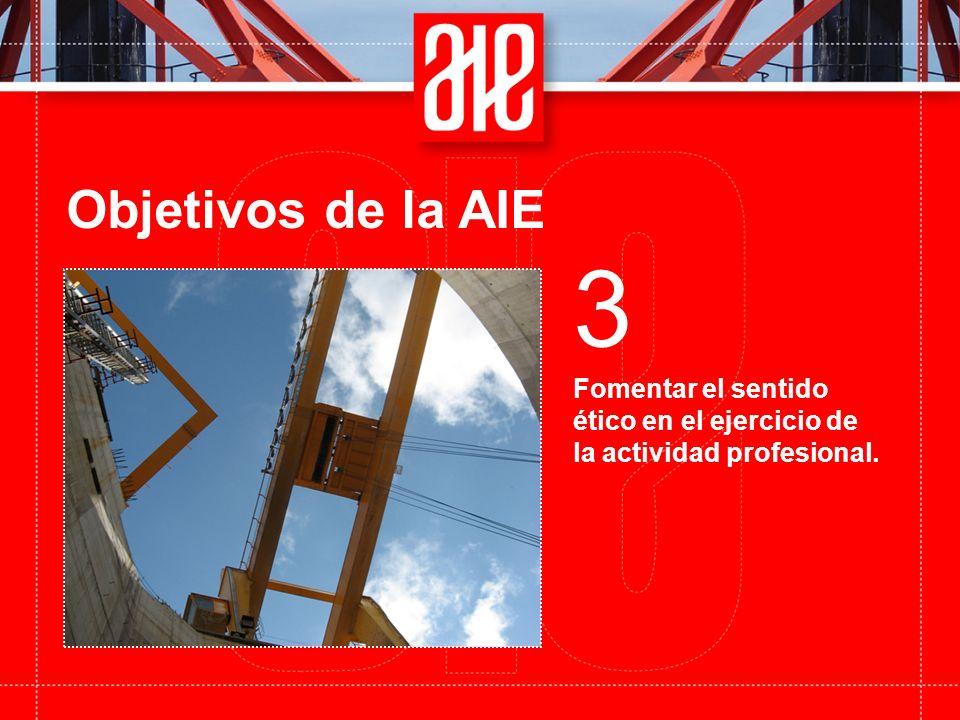 Objetivos de la AIE Fomentar el sentido ético en el ejercicio de la actividad profesional. 3