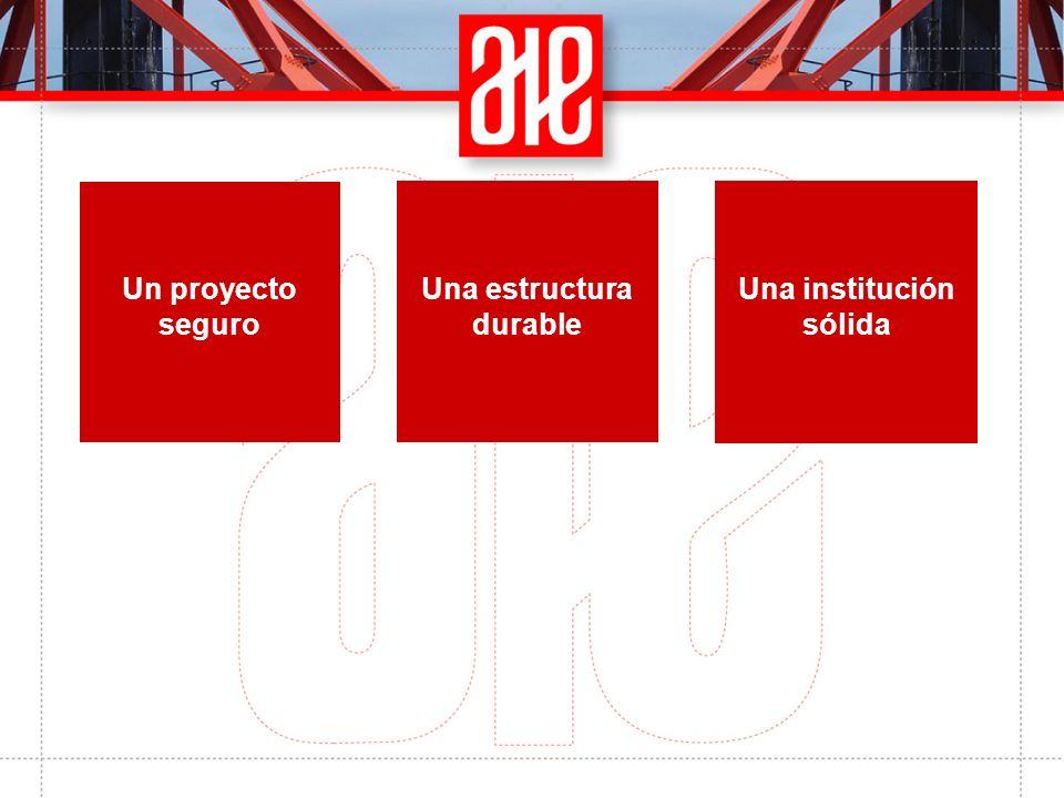 Una estructura durable Un proyecto seguro Una institución sólida