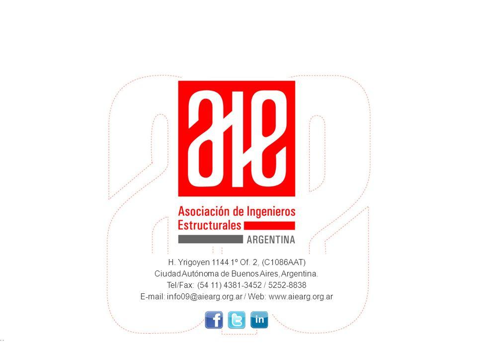 H. Yrigoyen 1144 1º Of. 2, (C1086AAT) Ciudad Autónoma de Buenos Aires, Argentina. Tel/Fax: (54 11) 4381-3452 / 5252-8838 E-mail: info09@aiearg.org.ar