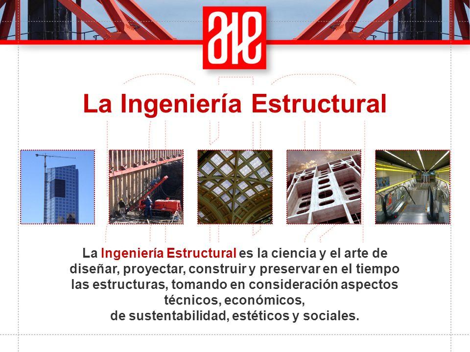 La Ingeniería Estructural es la ciencia y el arte de diseñar, proyectar, construir y preservar en el tiempo las estructuras, tomando en consideración aspectos técnicos, económicos, de sustentabilidad, estéticos y sociales.