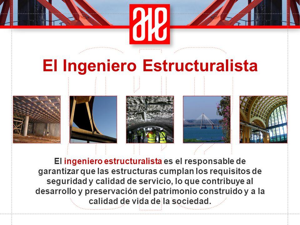 El ingeniero estructuralista es el responsable de garantizar que las estructuras cumplan los requisitos de seguridad y calidad de servicio, lo que con