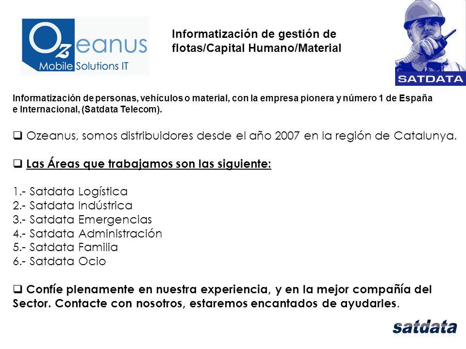 Informatización de personas, vehículos o material, con la empresa pionera y número 1 de España e Internacional, (Satdata Telecom).