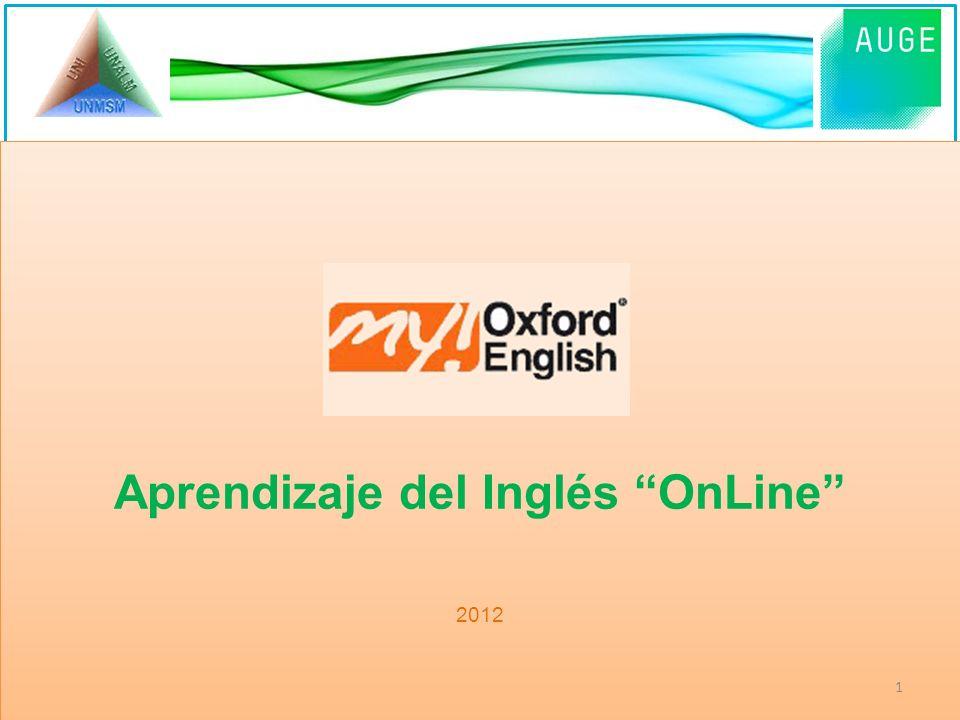 Aprendizaje del Inglés OnLine 2012 Aprendizaje del Inglés OnLine 2012 1
