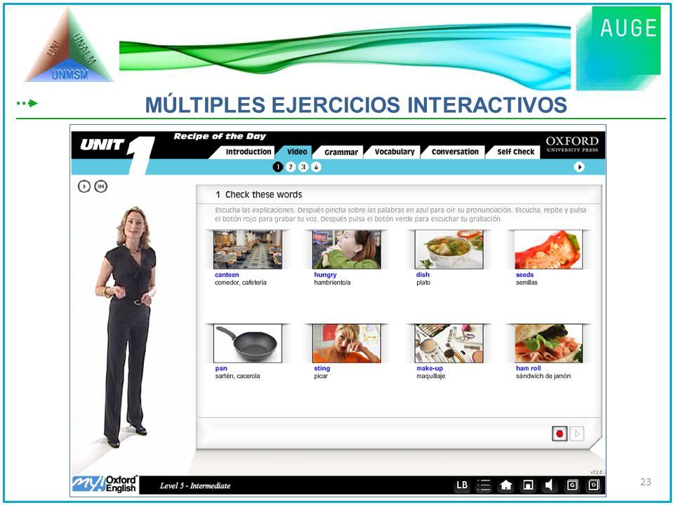 MÚLTIPLES EJERCICIOS INTERACTIVOS 23