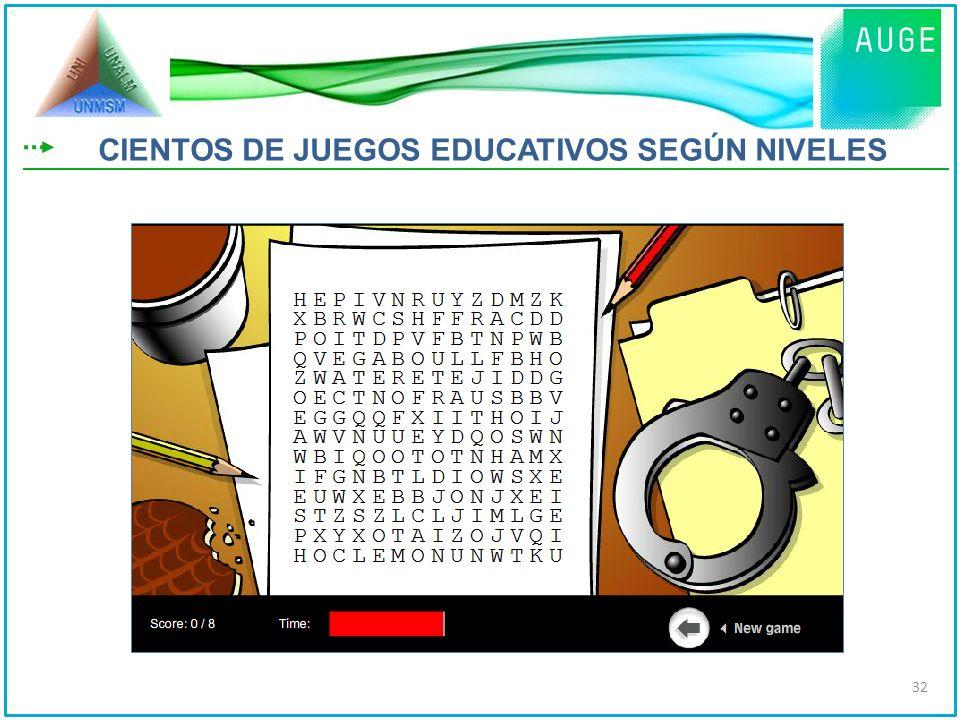 CIENTOS DE JUEGOS EDUCATIVOS SEGÚN NIVELES 32