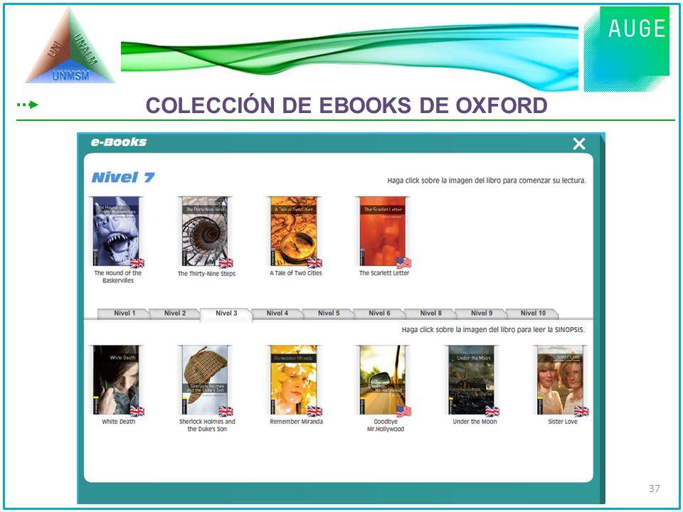 COLECCIÓN DE EBOOKS DE OXFORD 37