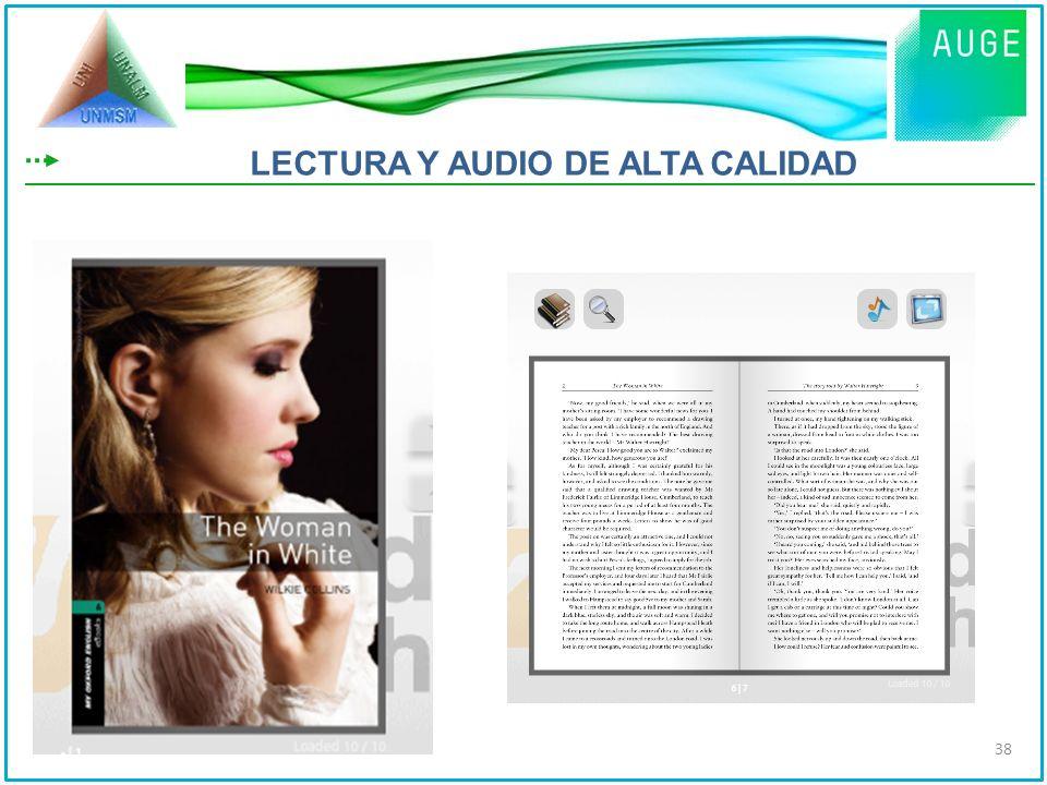 LECTURA Y AUDIO DE ALTA CALIDAD 38