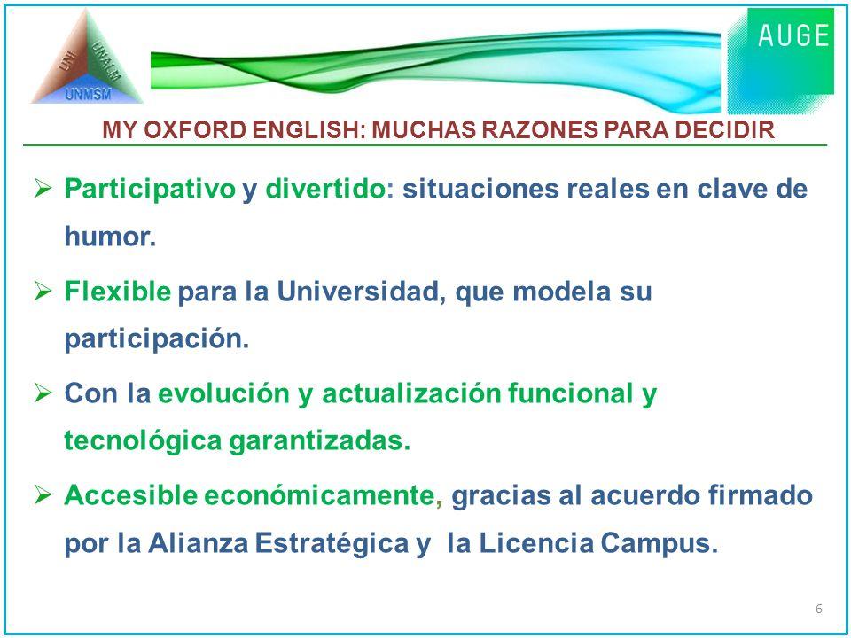 MY OXFORD ENGLISH El Marco Común Europeo de Referencia para las Lenguas (MCERL)MCERL 7