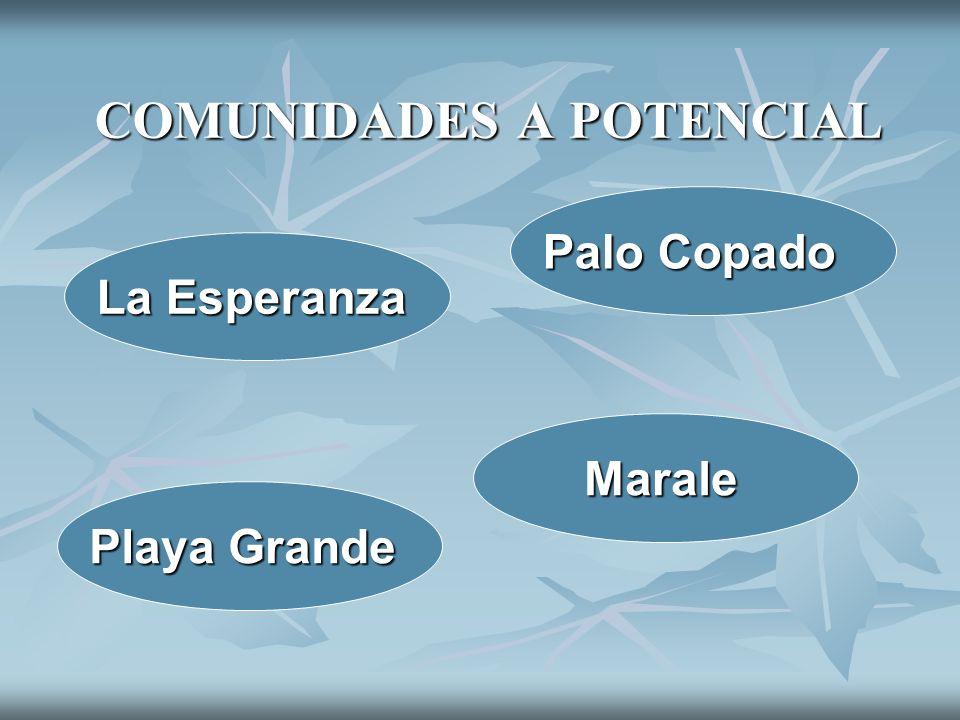 COMUNIDADES A POTENCIAL La Esperanza Palo Copado Playa Grande Marale