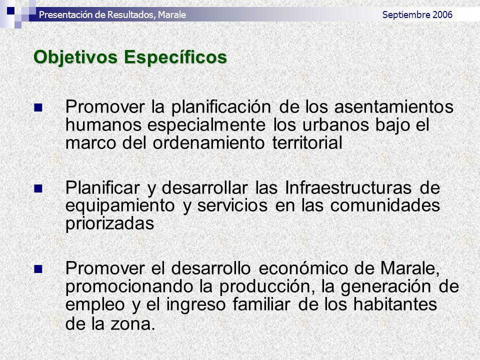 Planificar y desarrollar la red vial y de infraestructuras técnicas que conduzcan a una mejor integración del territorio y potencien las relaciones productivas y comerciales del Municipio de Marale.