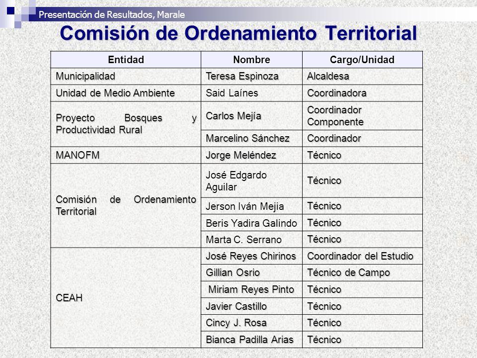 Comisión de Ordenamiento Territorial EntidadNombreCargo/Unidad Municipalidad Teresa Espinoza Alcaldesa Unidad de Medio Ambiente Said LaínesCoordinador