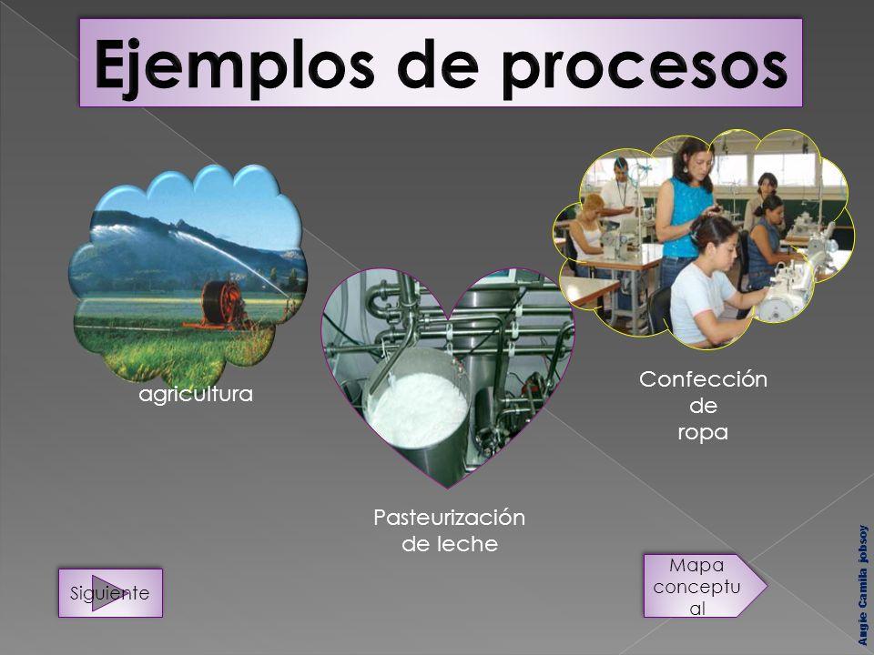 agricultura Pasteurización de leche Siguiente Mapa conceptu al Confección de ropa Angie Camila jobsoy