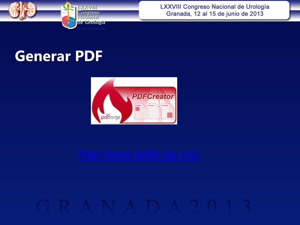 Generar PDF http://www.pdfforge.org/