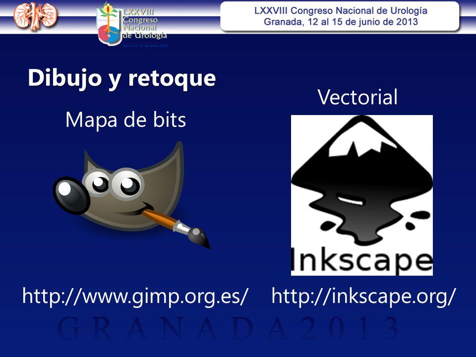 Dibujo y retoque Mapa de bits Vectorial http://inkscape.org/http://www.gimp.org.es/
