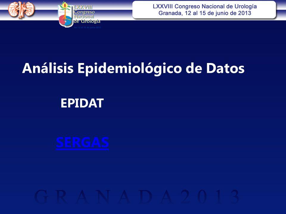 Análisis Epidemiológico de Datos EPIDAT SERGAS