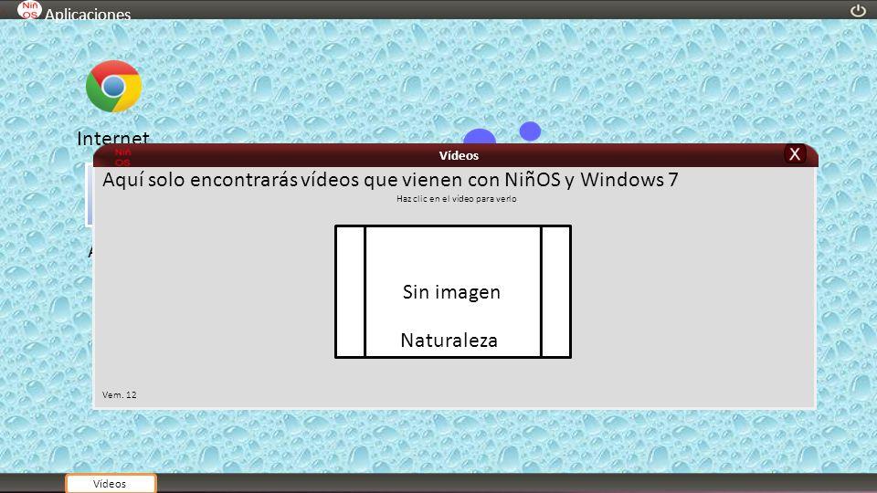 Ayuda Aplicaciones Internet Aquí solo encontrarás vídeos que vienen con NiñOS y Windows 7 Haz clic en el vídeo para verlo Vem. 12 Vídeos Sin imagen Na