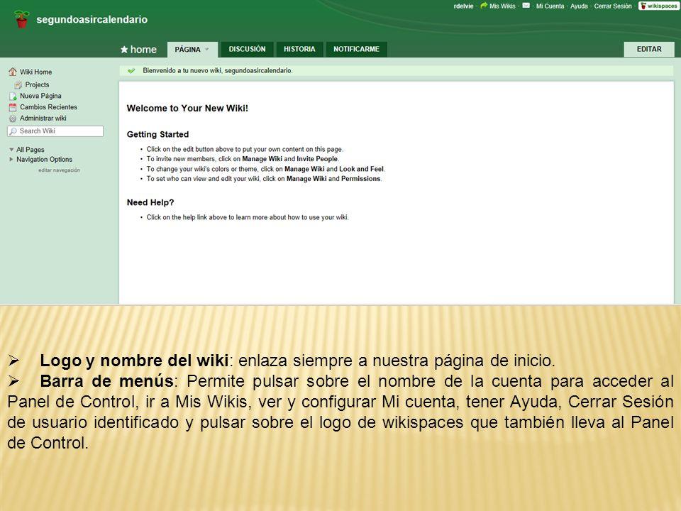 Logo y nombre del wiki: enlaza siempre a nuestra página de inicio.