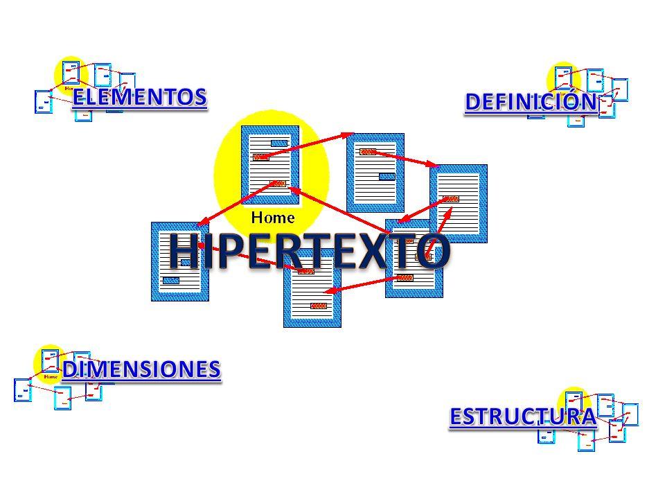 DEFINICIÓN El hipertexto es una estructura que organiza la información de forma no lineal.