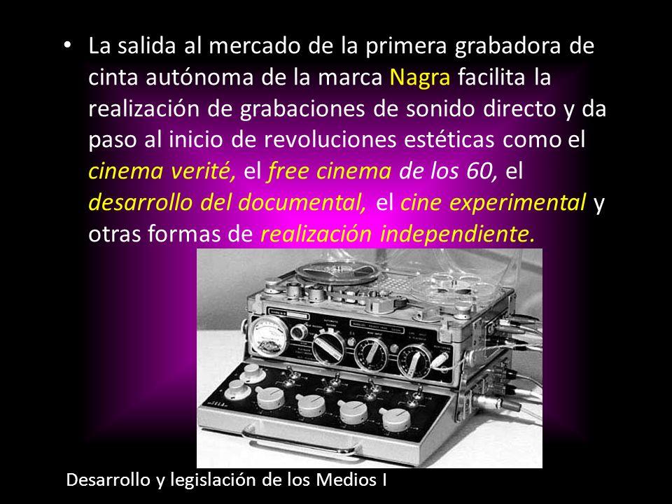 La salida al mercado de la primera grabadora de cinta autónoma de la marca Nagra facilita la realización de grabaciones de sonido directo y da paso al
