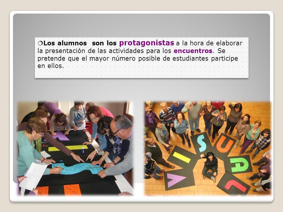 Los alumnos son los protagonistas a la hora de elaborar la presentación de las actividades para los encuentros. Se pretende que el mayor número posibl