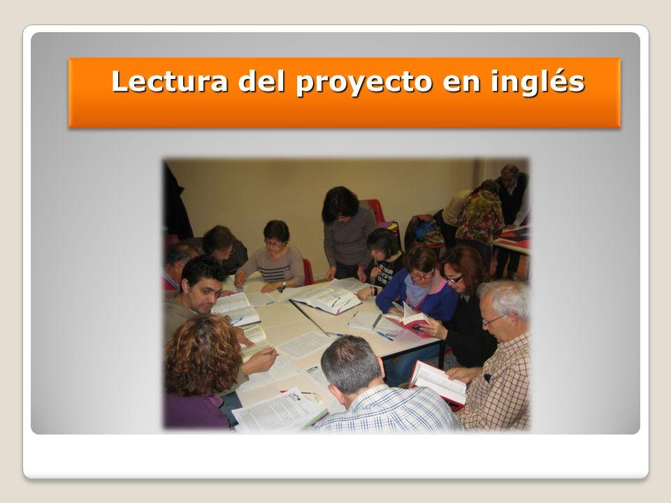 Lectura del proyecto en inglés