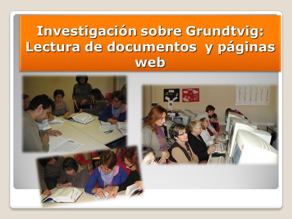 Investigación sobre Grundtvig: Lectura de documentos y páginas web