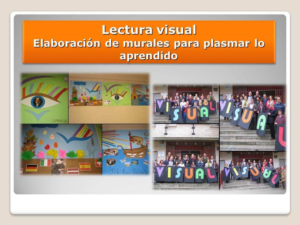 Lectura visual Elaboración de murales para plasmar lo aprendido