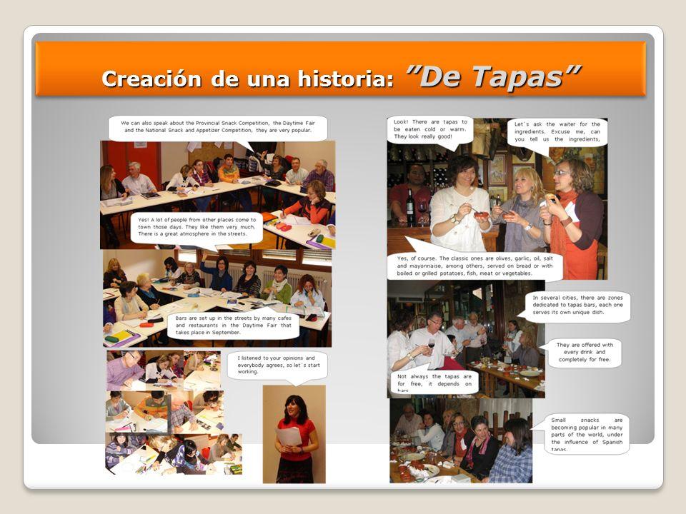 Creación de una historia: De Tapas