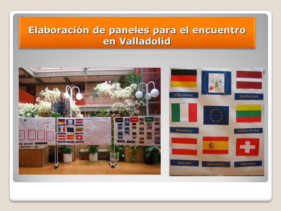 Elaboración de paneles para el encuentro en Valladolid