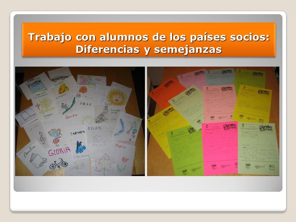 Trabajo con alumnos de los países socios: Diferencias y semejanzas