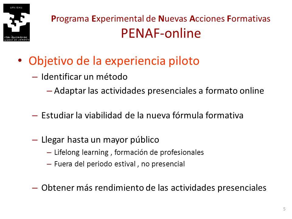 6 PENAF-online. Edición 2011.