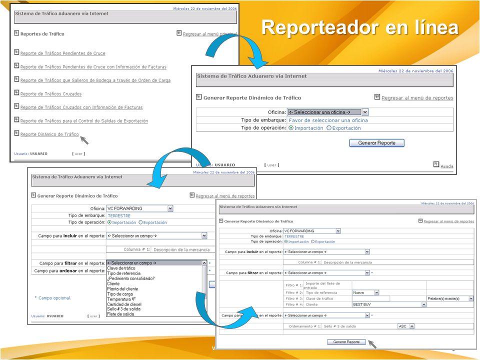 www.oam.com.mx Reporteador en línea