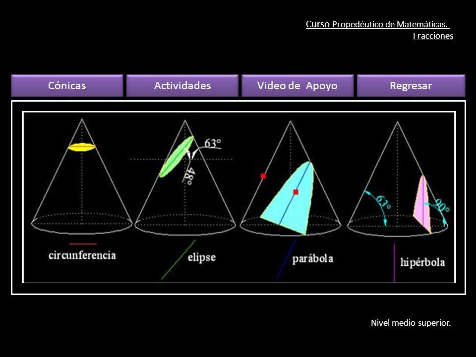 Curso Propedéutico de Matemáticas. Fracciones Nivel medio superior.